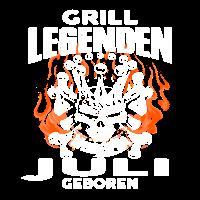 Juli - Geburtstag - Grill - Legende - DE