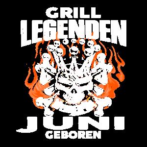 Juni - Geburtstag - Grill - Legende - DE