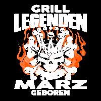 März - Geburtstag - Grill - Legende - DE