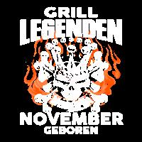 November - Geburtstag - Grill - Legende - DE