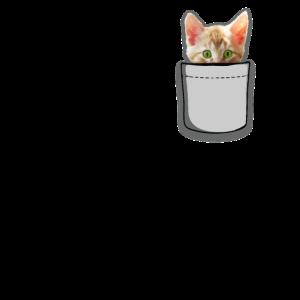 Süße Katze Tasche Hemd Geschenk
