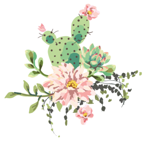 Romantisches Kaktusbouquet