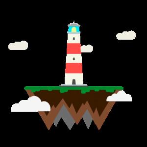 Schwimmender Leuchtturm
