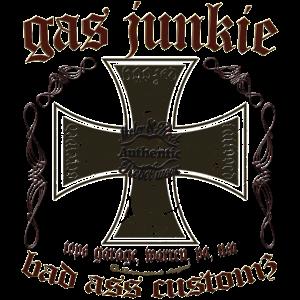 Gas Junkie iron cross