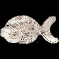 Patchwork Fisch Lustiger Piranha