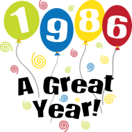Jahrgang 1980 Geburtstagsshirt: 1986 A Great Year