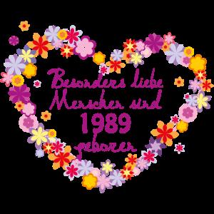 Geburtstag besonders 1989 geboren Blumenherz li