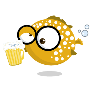 Puffer Pops - Kugelfisch mit Bier