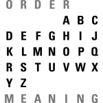 ABC Order / Meaning (EN)