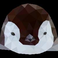 Pinguin Baby Polygon Art