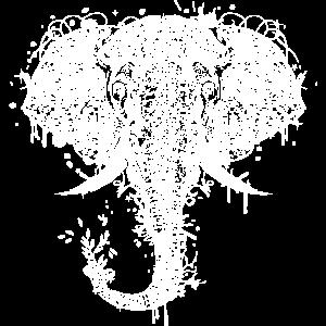 Elefantenkopf ornamental verziert