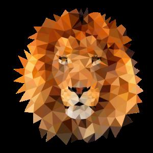 Löwe Poly Kunst