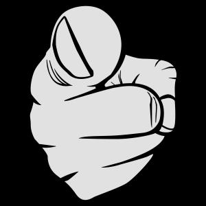 Zeigefinger, zweifarbig