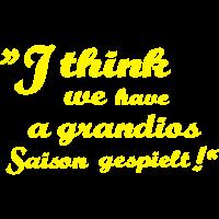 grandios Saison gespielt gelb