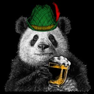 Oktoberfest Panda mit Bier