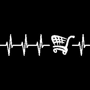 Shopping Herzschlag Einkaufen Heartbeat Geschenk