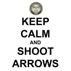 Keep Calm And Shoot Arrows - Svart Text