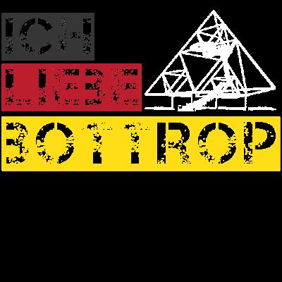 Ich liebe Bottrop Tshirt Ruhrgebiet geschenk - Ich liebe Bottrop Tshirt Ruhrgebiet geschenk - zeche,tourist,ruhrstadt,ruhrpott,nrw,kulturhauptstadt,gelsenkirchen,duisburg,dortmund,bochum,Sehenswürdigkeiten,Ruhrgebiet,Liebe,Geschenk,Bottrop,Architektur