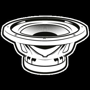 Radio Schwarz Weiß Lautsprecher