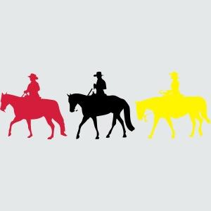 Drei-Westernreiter