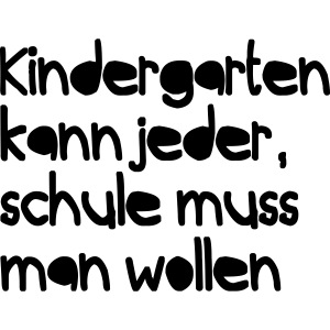 Kindergarten (Spruch)