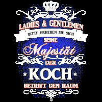 T-Shirt Seine Majestät der Koch