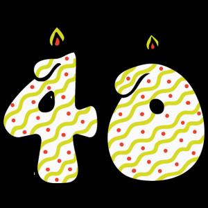 40 kerzen