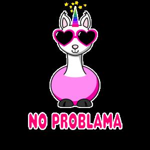 Einhorn Lama No Problama