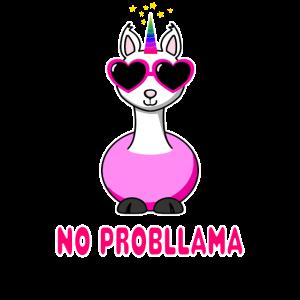 Einhorn Lama Unicorn Llama Shirt No Probllama