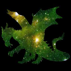 space dragon - Drache Märchen Fantasie Geschenk