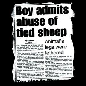 ABUSE OF SHEEP