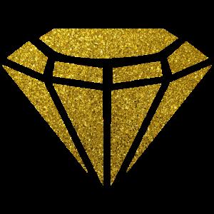 Golden Diamond - Goldener Diamant Glitzer Gold