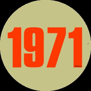 1971 orange circle
