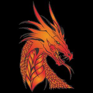 Wundervoller mythischer Drachen