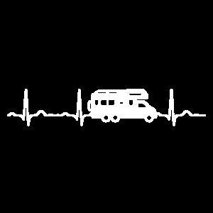 EKG HERZSCHLAG WOHNWAGEN White