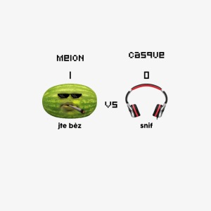 Melon vs Casque