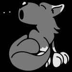Der kleine Wolf heult