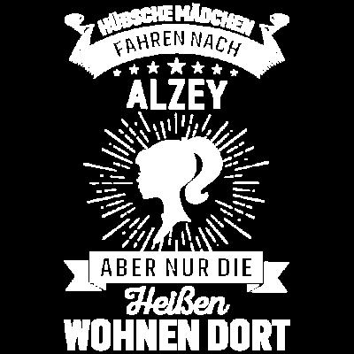 Nur die heißen Mädchen wohnen in Alzey - Hübsche Mädchen fahren nach Alzey, aber nur die Heißen wohnen dort! Das beste Geschenk für deine Schwester, Freundin, Tochter, Bekannte, Kollegin, die ihre Heimat liebt. Heimersheim, Weinheim - für freundin,mädchen,stadt,Rheinland-pfalz,Nibelungenstadt,wohnen dort,clique,kommen aus,Schafhausen,meine Heimat,heimat,alzey,hübsche mädchen,geboren in,liebe,Rheinhessen,gang,mädels,ich liebe,die besten,Alzey-Worms,girls,heiße mädchen,Alzey,Dautenheim