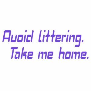 Avoid littering