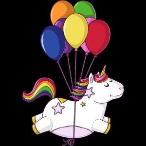 Fliegendes Regenbogen Comic Einhorn Ballons