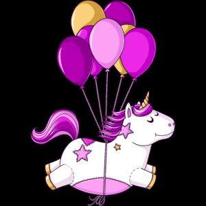 Fliegendes Comic Einhorn Ballons