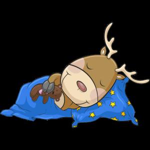 Schlafendes Comic Rentier