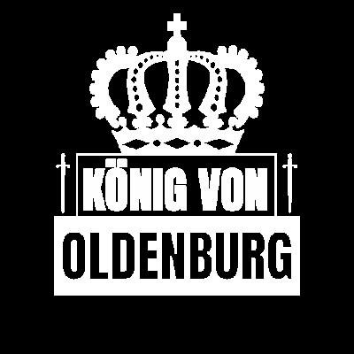 Stadt Oldenburg - König von Oldenburg - Bist du der König von Oldenburg? Dann zeig es mit diesem Design. Sei stolz auf Oldenburg, deine Stadt. - Stadt,Oldenburg t-shirt,Oldenburg Stolz,Oldenburg Shirts,Oldenburg Shirt,Oldenburg Kinderkleidung,Oldenburg Kinder t-shirt,Oldenburg Geschenkidee,Oldenburg Geschenke,Oldenburg BabyBody,Oldenburg Baby T-Shirts,Oldenburg,König