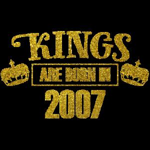 kings are born in 2007 - Geburtstag Koenig Gold