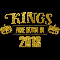 kings are born in 2018 - Geburtstag Koenig Gold