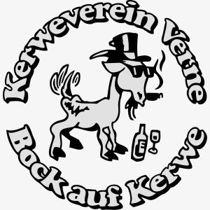 Kerwevereinslogo schwarz-weiss