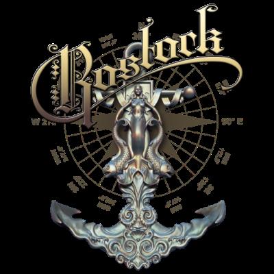Rostock Anker - Rostocker Anker mit Meerjungfrau und Fischen - Fisch,Hansestadt,Anker,Meerjungfrau,Rostock