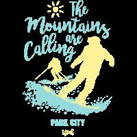 Snowboard Ski Park Stadt Utah