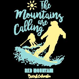 Snowboard Ski Red Mountain Britisch-Kolumbien