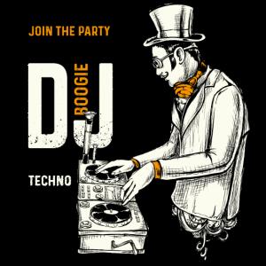 DJ BOOGIE DJ SHIRT Techno Musik Geschenk